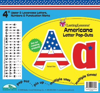 Barker Creek 4 H in Letter Pop-Outs, USA, Set of 255 by BARKER CREEK