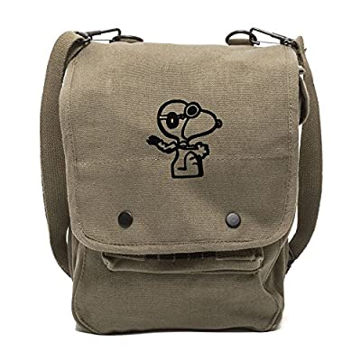 5e9f0cf11f44 Snoopy Flying Ace Canvas Crossbody Travel Map Bag Case 85%OFF ...