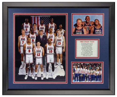 Legends Never Die 1992 USA Olympic Basketball Team Framed Photo Collage, 16
