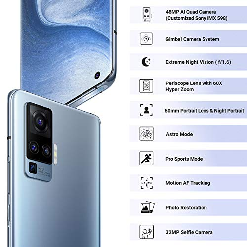 Vivo X50 Pro (Alpha Grey, 8GB RAM, 256GB Storage) with No Cost EMI/Additional Exchange Offers Discounts Junction