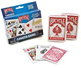 Bicycle Canasta Games Playing Cards (3-Pack)