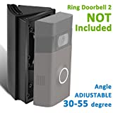 ADJUSTABLE (30 to 55 degree) Angle Mount for Ring Video Doorbell 2 (Released in 2017), Homono Angle Adjustment Adapter / Mounting Plate / Bracket / Wedge Kit (Doorbell NOT included)