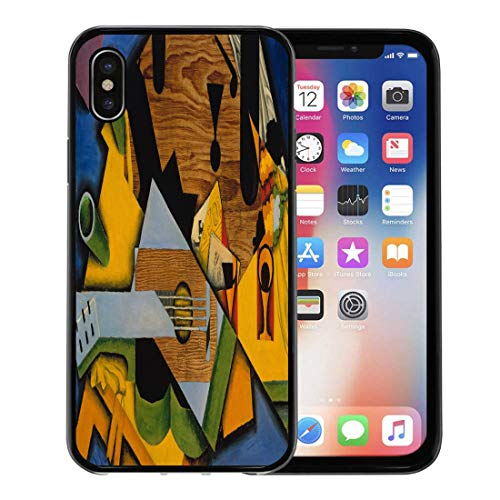 - Semtomn Phone Case for Apple iPhone Xs case,Still Life Guitar by Juan Gris 1913 Spanish Cubist Painting Oil on Canvas This Work is Strongly for iPhone X Case,Rubber Border Protective Case,Black