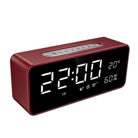 XXHDYR Despertador Pantalla Grande Bluetooth Audio Hotel ...