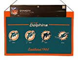 Miami Dolphins NFL Wool Hanging 22x14 Heritage Banner