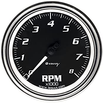Amazon Com Equus 6068 3 38 Tachometer Black Automotive