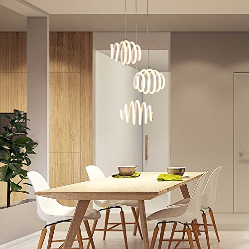 TIANLIANG04 Chandeliers Dining Room Lamp Droplight Single Head Three Table