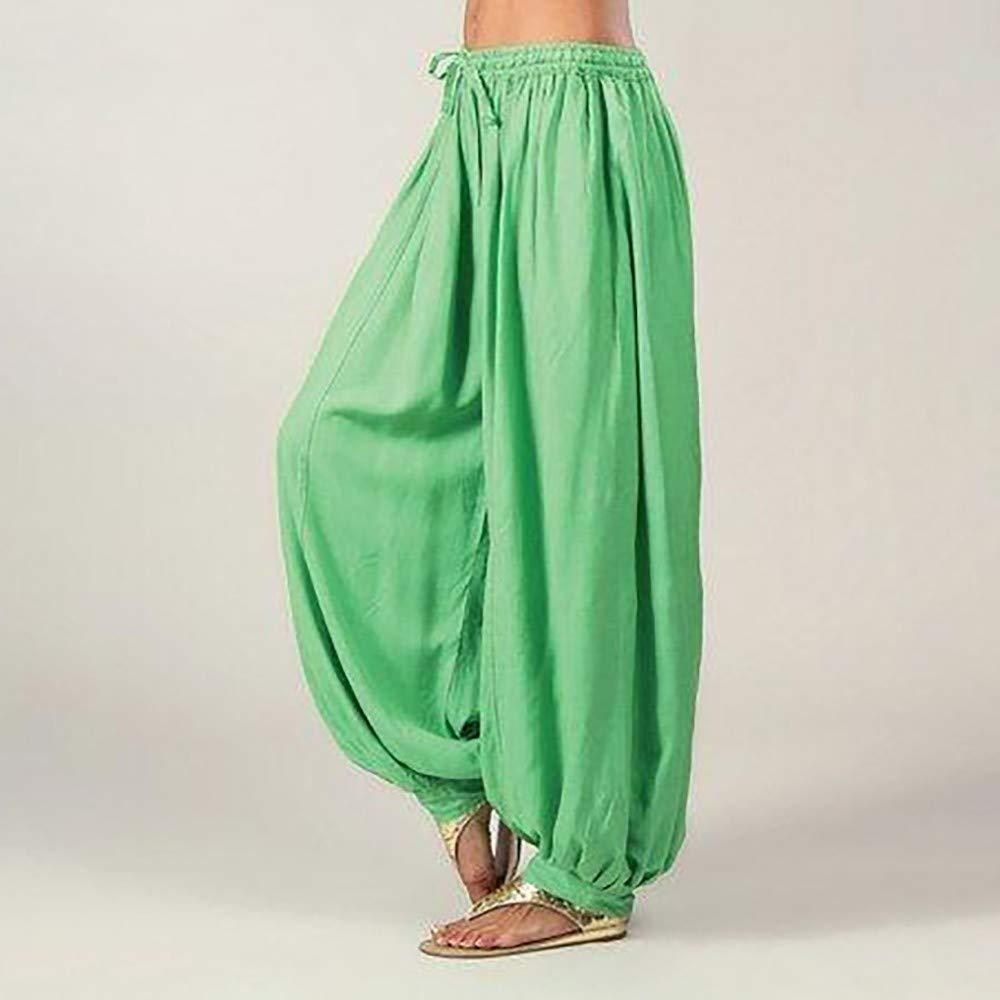 Damen Herren /Übergr/ö/ße Einfarbig Casual Lose Pluderhosen Yoga Hosen Lolamber Frauen Bell Bottoms Flare Hose