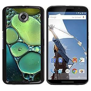 Be Good Phone Accessory // Dura Cáscara cubierta Protectora Caso Carcasa Funda de Protección para Motorola NEXUS 6 / X / Moto X Pro // Sun Spring Nature Bubbles Teal Green