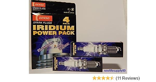 Amazon.com: DENSO ---SK20HR11---- IRIDIUM PLATINUM power pack Spark Plugs -- # 3421 ----- 6 PCS * NEW *: Automotive