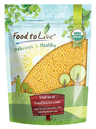 Organic Hulled Millet by Food to Live (Whole Grain Seeds, Non-GMO, Kosher, Raw, Bulk, Product of the USA) (3 (Millet Seed)