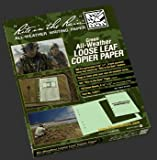 Rite in the Rain Tactical Loose Leaf Copier Paper - Green, 150 Sheets
