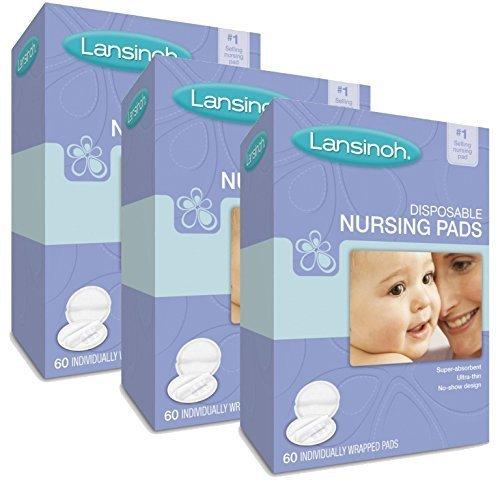 Lansinoh Nursing Pads Stay Dry 60 Each ( Pack of 3 )