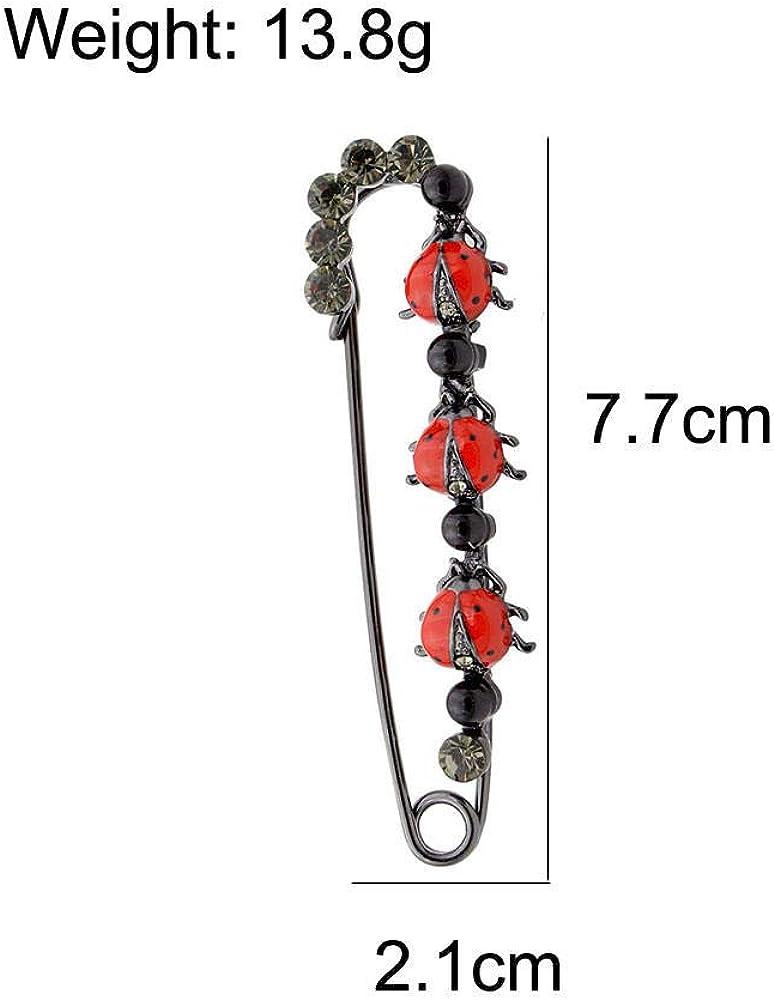generic/_ Broche 2 Couleurs Disponibles Broches Mignonnes De Coccinelle pour Les Femmes Bijoux De Corsage De Mode