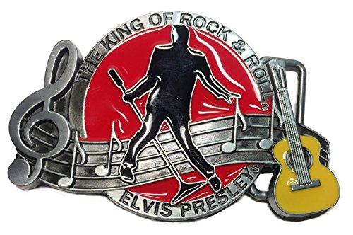 Elvis Presley The King of Rock & Roll Metal/Enamel Belt Buckle