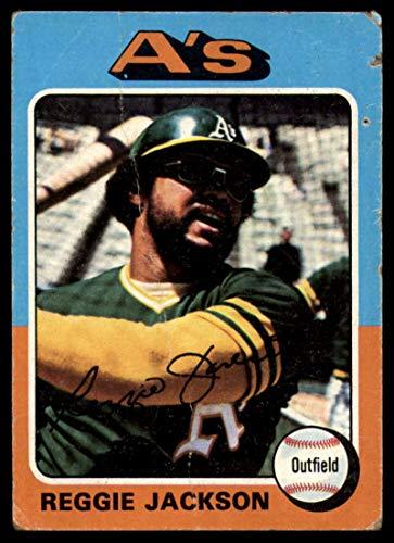 Baseball MLB 1975 Topps #300 Reggie Jackson G/VG Good/Very Good Athletics