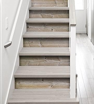 Plage Stairs Vinilos para Escaleras-Madera, Marrón Claro, 100x0.1x19 cm, 3 Unidades: Amazon.es: Hogar