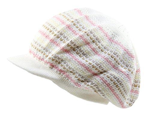 NY Knit Cotton Beanie Visor (Ivory Multi)
