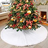 Christmas Tree Skirts White Snowflake Blanket Xmas Merry Year Party Holiday Home Decoration Kits 31/36/48in