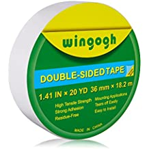 Wingogh Double Sided Tape - Multi-Purpose Double Sided Duct Tape Perfect for Carpet Rug Indoor and Outdoor Removable Heavy Duty Mounting Tape, 1.41-Inch by 20-Yards