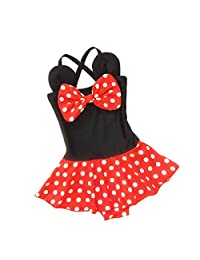 3c2e1587b9bf3 DQdq Baby Girls One Piece Swimsuits Beach Wear with Headband
