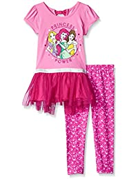 Girls' 2 Piece Princess Tunic with Tulle Legging Set