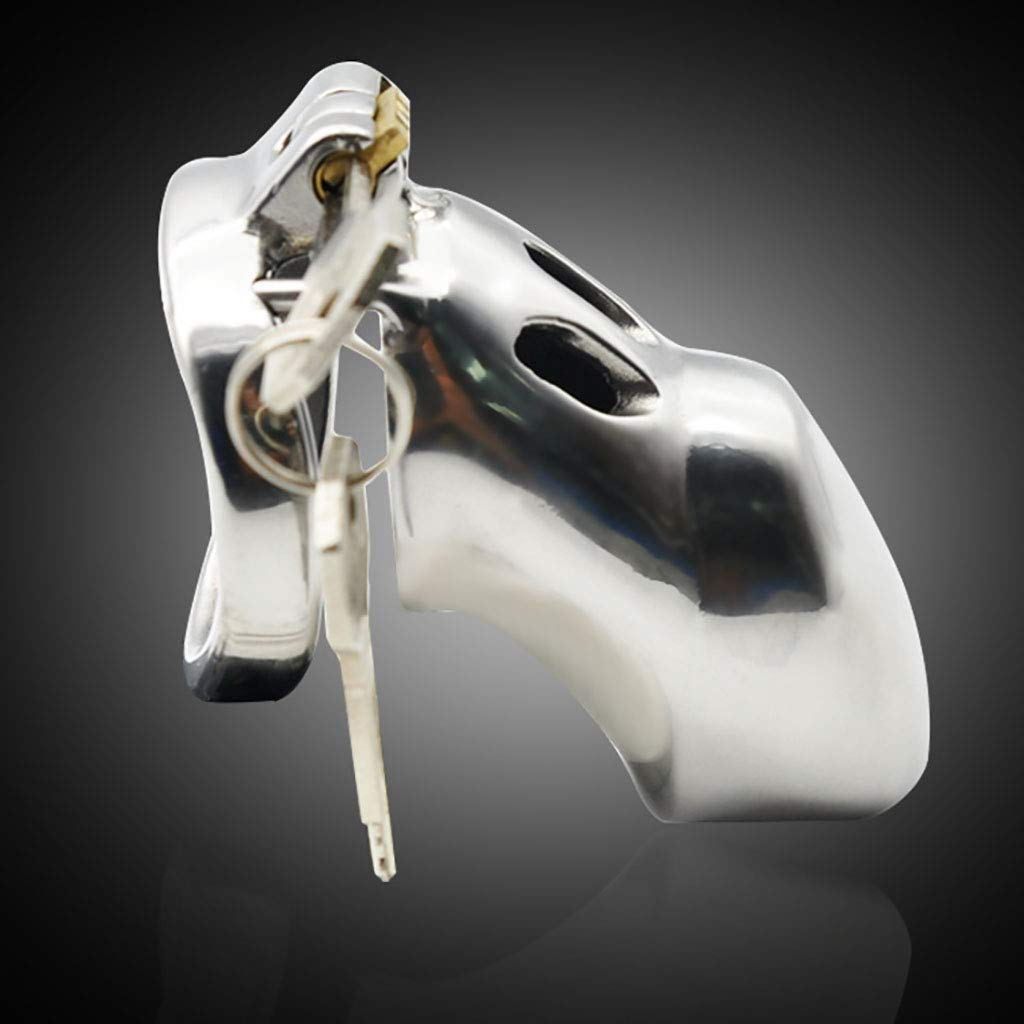 Jaulas de pene Chastity Cage, acero inoxidable : Male Chastity Lock/With Cleaning Pants Alternative Toys (Color : inoxidable 50mm) 6b8c67