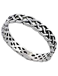 Sterling Silver Stackable Celtic Ring 1/8 inch wide, sizes 6 - 10