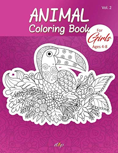 Amazon Com Animal Coloring Book For Girls Ages 4 8 Cute Funny Mandala Animal Picture Book Enjoy Animal Coloring Book For Kids Girls Boys Coloring Sheets Vol 2 9798654153180 Publication Designer Books Books