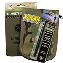 """All Weather Tactical 4""""x6"""" Notebook Kit MultiCam Cover & Fisher Military Space Pen"""