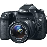 Canon EOS 70D Digital SLR Camera with 18-55mm STM Lens (International Model) No Warranty