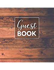 Rustic guest book for vacation home: Square Blank Notebook for guests to write in