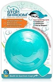StopShroom STBLU232 Universal Stopper Plug Cover for Bathtub, Bathroom and Kitchen Drains, Aqua