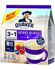 Quaker 3 In 1 Instant Oat Cereal Drink, Berry Burst, 450 G