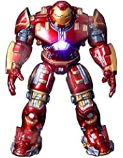 SKEIDO Game, Fun, Avengers 2 Iron Man 18CM Hulkbuster Armor Joints Movable PVC Action Figure Mark With LED Light Collection Model ToyPlay
