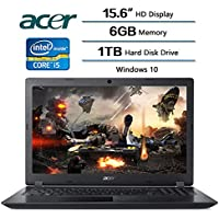 2018 High Performance Acer Flagship Aspire 3 Laptop 15.6 inch HD Display, 6 GB DDR4 SDRAM Memory, 1 TB Hard Disk Drive, Intel Core i5-7200U 2.5 GHz, Intel HD Graphics 620, Windows 10
