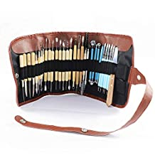 Carving Tool Set with Roll-Up Case, 22 Pieces Wooden Pottery Sculpting Tools,5 Pieces Ceramic Clay Indentation Tool,4 Pieces Double-ended Metal Ball Tools with Roll Up Pouch Case (31 pieces)