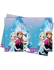 Procos 86884 - tafelkleed Frozen Northern Lights, afmeting 120 x 180 cm, Anna, Elsa, Olaf, feestdecoratie, kinderverjaardag