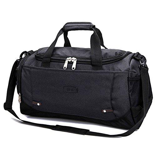 Noir  ZOUQILAI Voyage de grande capacité en plein air polyester loisirs sac à dos d'affaires sac de voyage double sélection de couleur