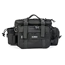 Lixada Multifunctional Fishing Tackle Bag Outdoor Sports Single Shoulder Bag Crossbody Bag Waist Pack Fishing Lures Tackle Gear Utility Storage Bag