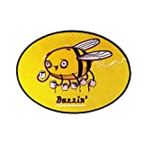 """""""Buzzin"""" Bumblebee Drinking Coffee Brew - Iron on Embroidered Patch Applique"""