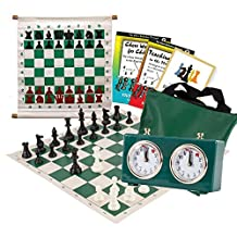 Scholastic Chess Club Starter Kit - For 20 Members - With Regulation Mechanical Clocks - Green - by US Chess Federation