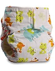 LittleBloom Bebé Pañales Lavables Pañal Reutilizable BAMBÚ, Cierre:Hook-Loop, Patrón 48, Con 1 MICROFIBRA Inserto