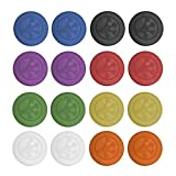 Grip-iT Analog Stick Covers, Set of 16 (Blue, Black, Red, Green, Purple, Yellow, Orange, & Clear) by Grip-It