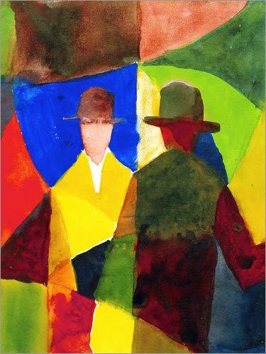 Poster Spiegelbild 90 x 120 cm  Spiegelbild Poster im Schaufenster von August Macke akg-Images - hochwertiger Kunstdruck, Kunstposter 3c07b5