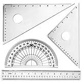 4 pc Metal Triangular Scale Ruler Set
