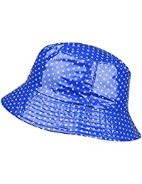 ORSKY Packable Waterproof Bucket Hat Polka Dot Wide Brim Rain Hats Women Girls