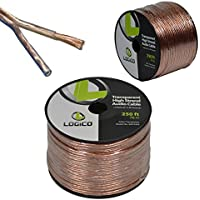 14/2 250FT 14AWG GAUGE 2 CONDUCTOR TRANSPARENT HIGH STRAND SPEAKER WIRE AUDIO CABLE