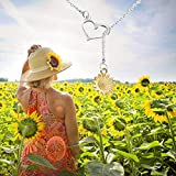 AKTAP Sunflower Necklace Sunflower Charms