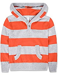 Boys' Pullover Sweater Crew Neck Cotton Stripe Sweater Casual Style for 2-12Y
